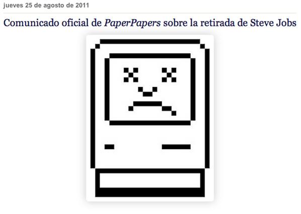 Papers Papers sobre la retirada de Steve Jobs