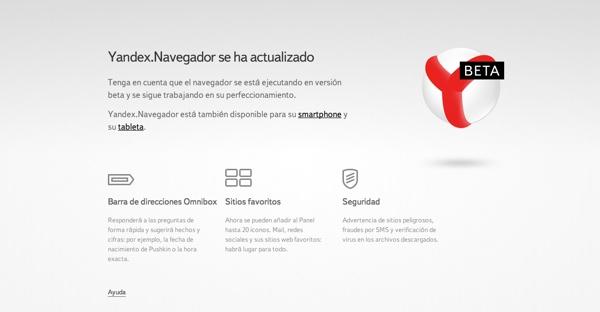 Yandex Browser en español