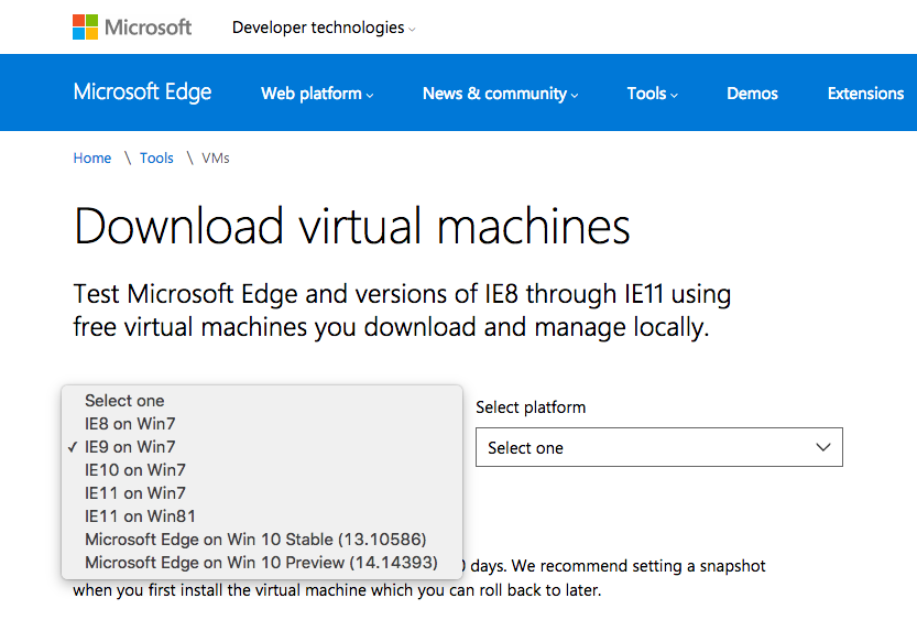 Microsoft Virtual Machines